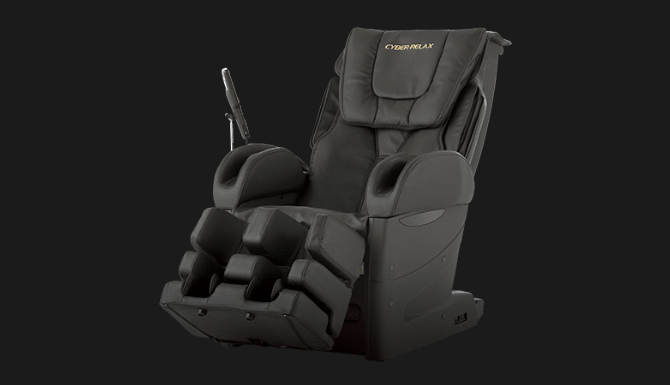 2012 Evolution and acceleration of massaging mechanic [CYBER-RELAX massage chair AS-850]